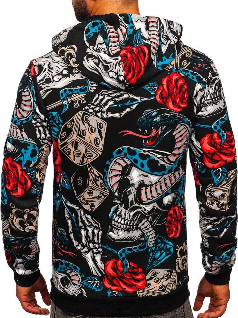 kolorowa męska bluza
